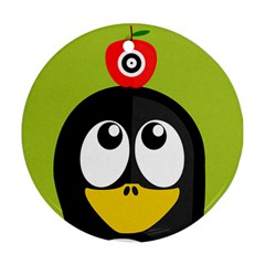Animals Penguin Round Ornament (two Sides)