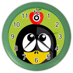 Animals Penguin Color Wall Clocks