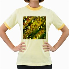 Advent Star Christmas Women s Fitted Ringer T-Shirts