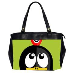 Animals Penguin Office Handbags (2 Sides)