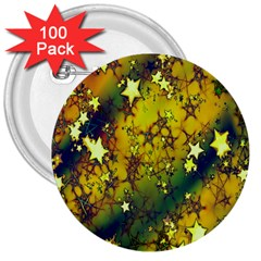 Advent Star Christmas 3  Buttons (100 pack)