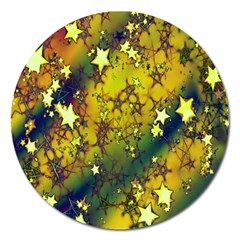 Advent Star Christmas Magnet 5  (Round)