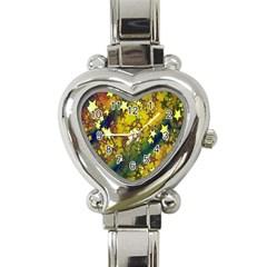 Advent Star Christmas Heart Italian Charm Watch