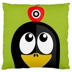 Animals Penguin Large Cushion Case (one Side)