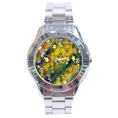 Advent Star Christmas Stainless Steel Analogue Watch