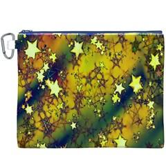 Advent Star Christmas Canvas Cosmetic Bag (XXXL)
