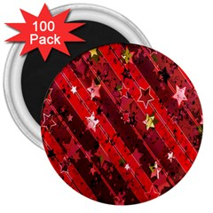 Advent Star Christmas Poinsettia 3  Magnets (100 pack)