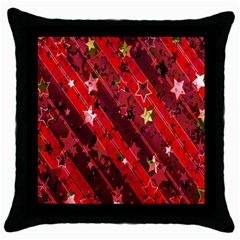 Advent Star Christmas Poinsettia Throw Pillow Case (Black)
