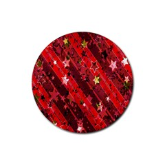 Advent Star Christmas Poinsettia Rubber Round Coaster (4 pack)