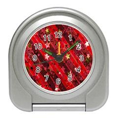 Advent Star Christmas Poinsettia Travel Alarm Clocks