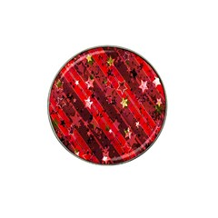 Advent Star Christmas Poinsettia Hat Clip Ball Marker (10 pack)