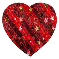 Advent Star Christmas Poinsettia Jigsaw Puzzle (Heart)