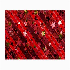 Advent Star Christmas Poinsettia Small Glasses Cloth