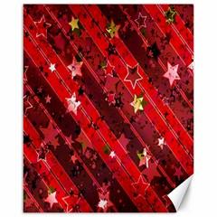 Advent Star Christmas Poinsettia Canvas 16  x 20