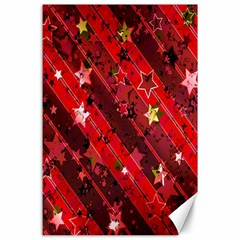 Advent Star Christmas Poinsettia Canvas 24  x 36