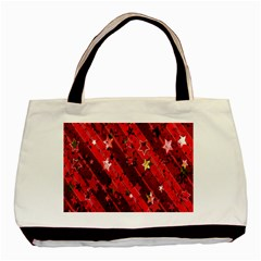 Advent Star Christmas Poinsettia Basic Tote Bag (Two Sides)