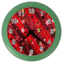 Advent Star Christmas Poinsettia Color Wall Clocks
