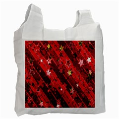 Advent Star Christmas Poinsettia Recycle Bag (One Side)