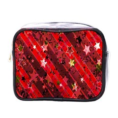 Advent Star Christmas Poinsettia Mini Toiletries Bags