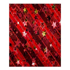 Advent Star Christmas Poinsettia Shower Curtain 60  x 72  (Medium)
