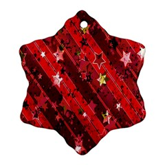 Advent Star Christmas Poinsettia Snowflake Ornament (Two Sides)