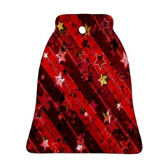 Advent Star Christmas Poinsettia Bell Ornament (Two Sides)