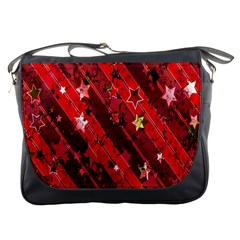 Advent Star Christmas Poinsettia Messenger Bags