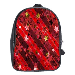 Advent Star Christmas Poinsettia School Bags (xl)
