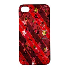Advent Star Christmas Poinsettia Apple iPhone 4/4S Hardshell Case with Stand