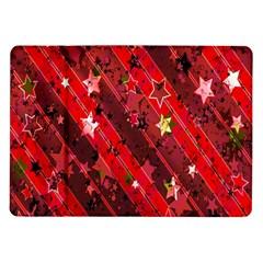 Advent Star Christmas Poinsettia Samsung Galaxy Tab 10.1  P7500 Flip Case