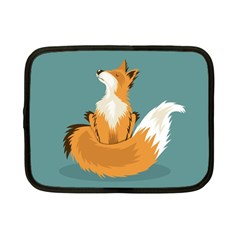 Animal Wolf Orange Fox Netbook Case (small)