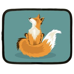 Animal Wolf Orange Fox Netbook Case (xl)