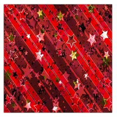 Advent Star Christmas Poinsettia Large Satin Scarf (square)