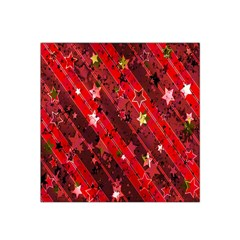 Advent Star Christmas Poinsettia Satin Bandana Scarf