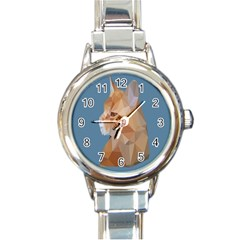 Animals Face Cat Round Italian Charm Watch
