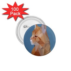 Animals Face Cat 1 75  Buttons (100 Pack)