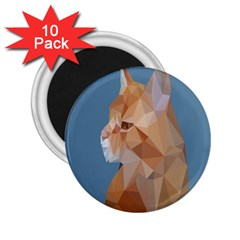 Animals Face Cat 2 25  Magnets (10 Pack)