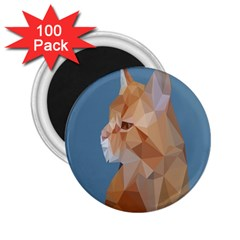 Animals Face Cat 2 25  Magnets (100 Pack)