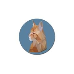 Animals Face Cat Golf Ball Marker