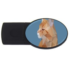 Animals Face Cat Usb Flash Drive Oval (2 Gb)