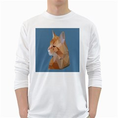 Animals Face Cat White Long Sleeve T Shirts