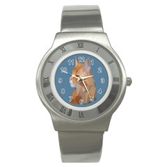 Animals Face Cat Stainless Steel Watch