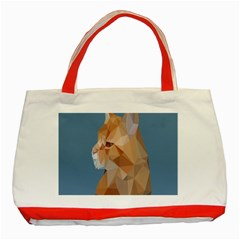 Animals Face Cat Classic Tote Bag (red)