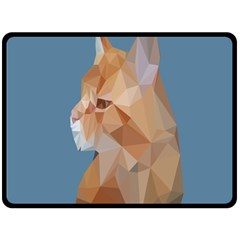 Animals Face Cat Fleece Blanket (large)