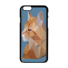Animals Face Cat Apple Iphone 6/6s Black Enamel Case