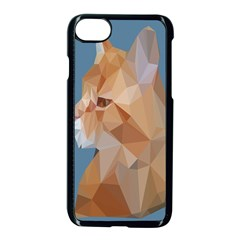 Animals Face Cat Apple Iphone 7 Seamless Case (black)