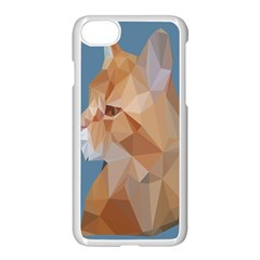 Animals Face Cat Apple Iphone 7 Seamless Case (white)