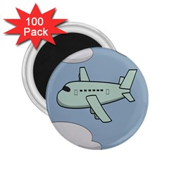 Airplane Fly Cloud Blue Sky Plane Jpeg 2 25  Magnets (100 Pack)