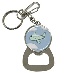 Airplane Fly Cloud Blue Sky Plane Jpeg Button Necklaces