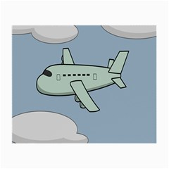 Airplane Fly Cloud Blue Sky Plane Jpeg Small Glasses Cloth (2 Side)